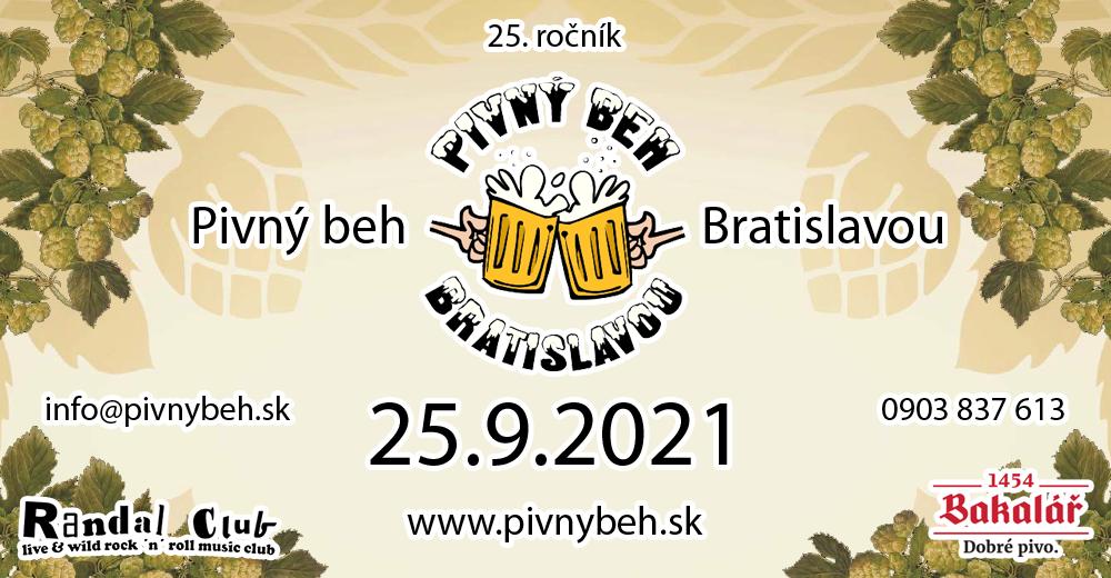 Pivný beh Bratislavou 25 - 25.9.2021 o 13:00 RANDAL Club